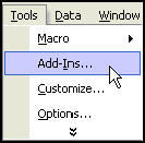 Install Excel Addin from Menu