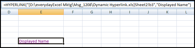 basic hyperlink formula
