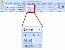 screenshot_home ribbon_number_format