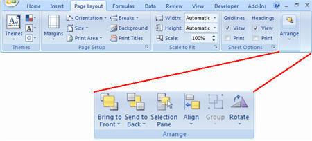 screenshot insert ribbon charts